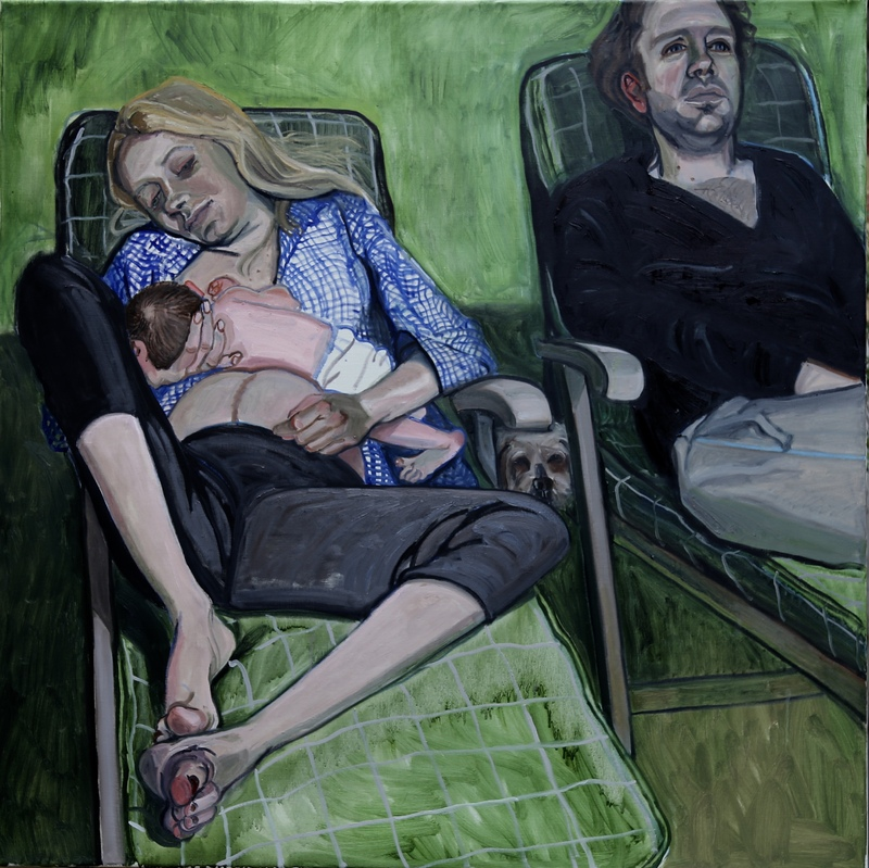 A New Life, oil on linen, 110 x 110 cm